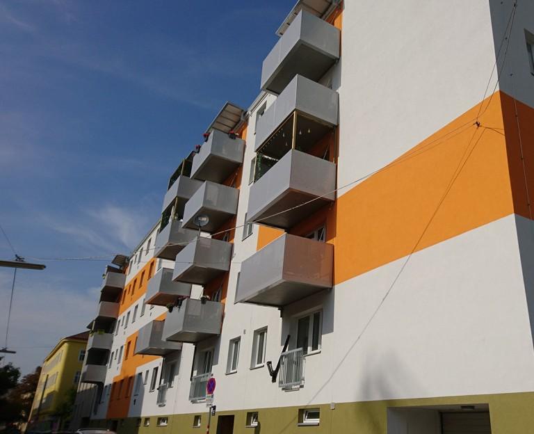 Fassadensanierung und Balkonzubauten Wien